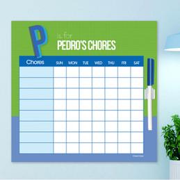 Double Initial Green Chore Schedule
