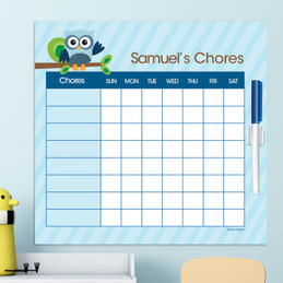 Owl Be Yours Blue Chores For Kids