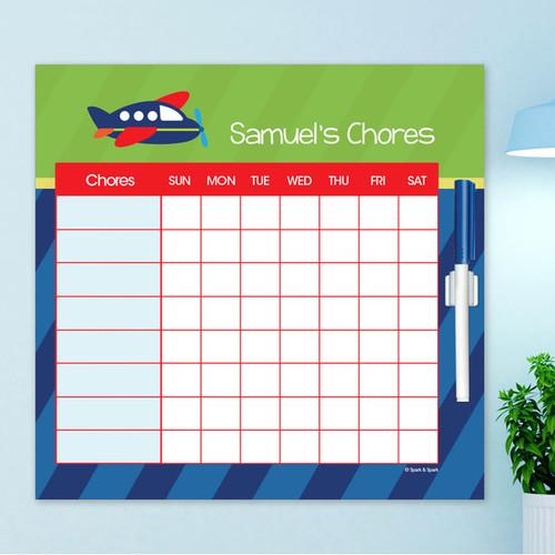 Airplane Ride Chore Schedule