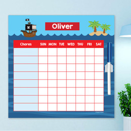 All Aboard Pirates Summer Chore Chart