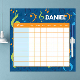 Musical Notes Kids Chore Charts