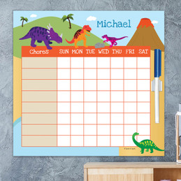 Dinosaur In The Jungle Kids Chore Chart