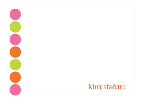 Fantastic Cool Note Card Designs   Happy Dots In Orange