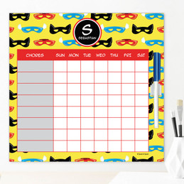 Super Hero Masks Chore Chart For Teens