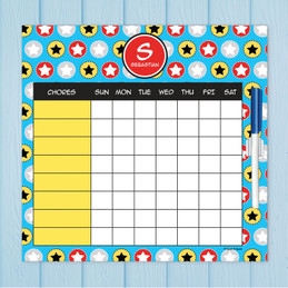 Super Hero Stars Charts For Kids