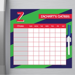 Brilliant initial - Green Chore Chart