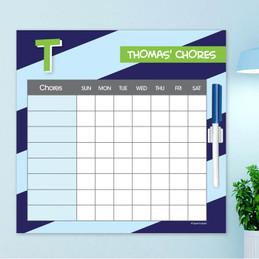 Brilliant initial - Blue Chore Chart