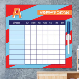 Brilliant initial Red Chore Chart