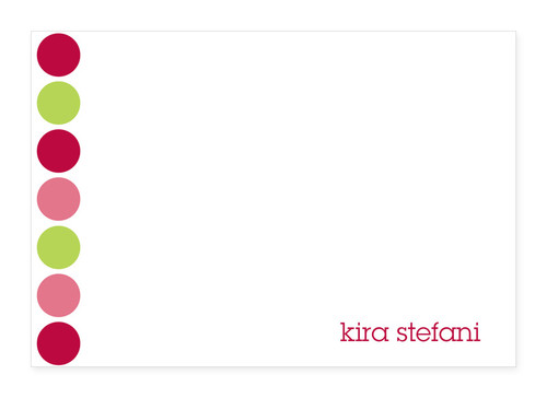 Gorgeous Custom Stationery Cards | Happy Dots In Pink