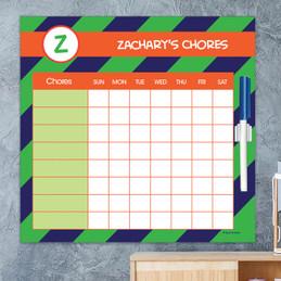 Fun initials - Green Chore Chart