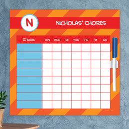 Fun initials - Orange Chore Chart