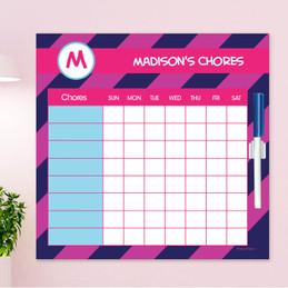 Fun initials - Magenta Chore Chart