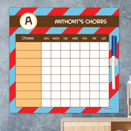 Fun initials - Red Chore Chart