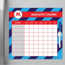 Fun initials - Blue Chore Chart