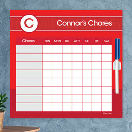 A Linen Red Letter Chore Chart