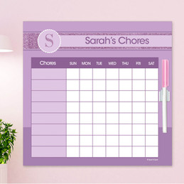 A Shiny Letter - Purple Chore Chart