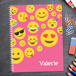 Girl Emojis Kids Notebook