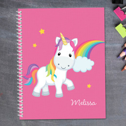 Rainbow Unicorn Kids Notebook
