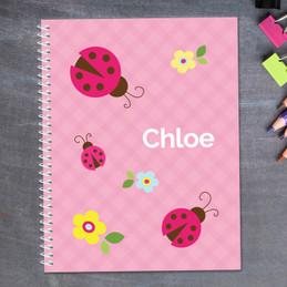 Three Lady Bugs Kids Notebook