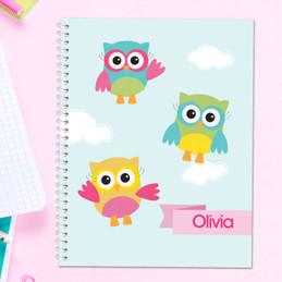 Three Owls Kids Notebook