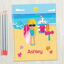 Beach Girl Kids Notebook