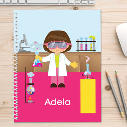 Cute Scientist Girl Kids Notebook