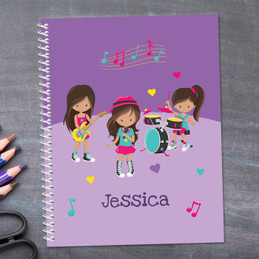 Rock And Roll Band Kids Notebook