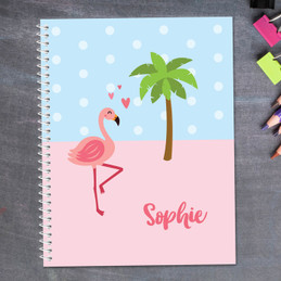 Sweet Flamingo Love Kids Notebook