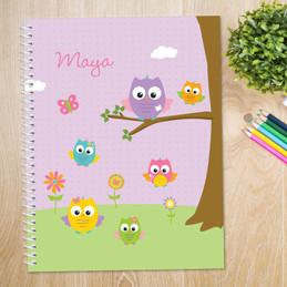 Owls On The Field Kids Notebook