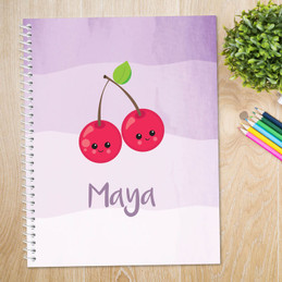 Yummy Cherries Kids Notebook