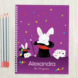 Cute Girl Magician Kids Notebook