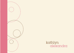 Cute Children'S Personalized Notepads | Circles And Swirls Pink