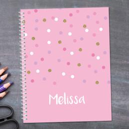 Sweet Glitter Dots Kids Notebook