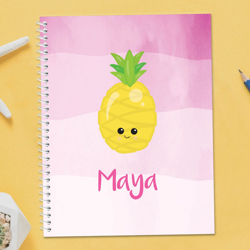 Yummy Pineapples Kids Notebook