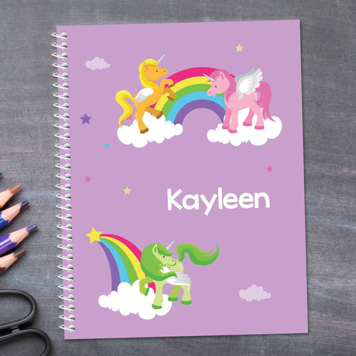 Sweet Unicorns Kids Notebook