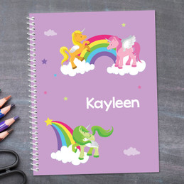 Sweet Unicorns Kids Notebook