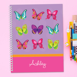 Bright Butterflies Kids Notebook