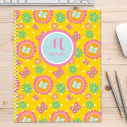Yellow Flowers Pattern Kids Notebook