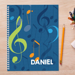 Musical Notes Kids Notebook