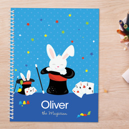 Cute Magician Boy Kids Notebook