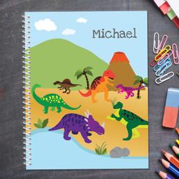 Dinosaur in the Jungle Kids Notebook