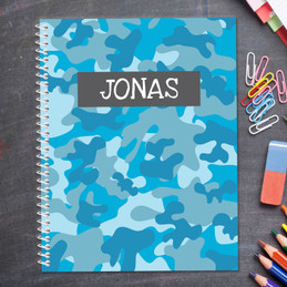 Blue Camouflage Kids Notebook