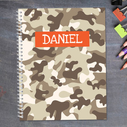 Brown Camouflage Kids Notebook