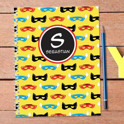 Super Hero Masks Kids Notebook