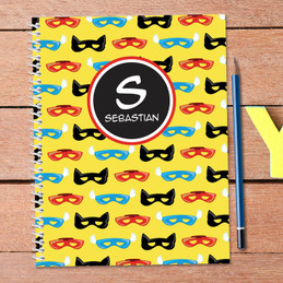 Super Hero Masks Kids Notebook