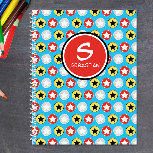 Super Hero Stars Kids Notebook