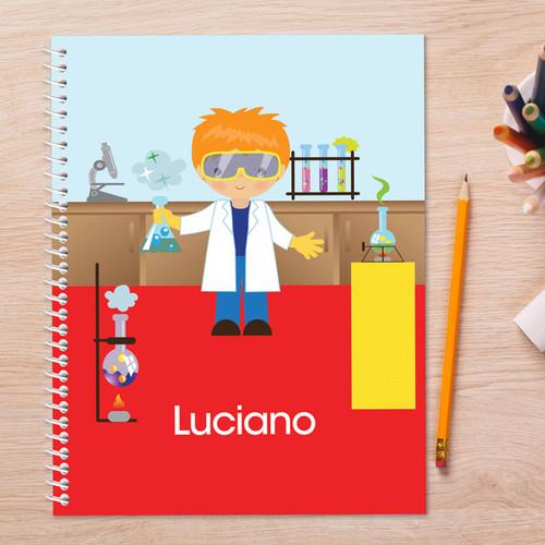 Cool Scientist Boy Kids Notebook