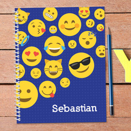 Boy Emojis Kids Notebook