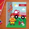 Call a Firefighter Kids Notebook