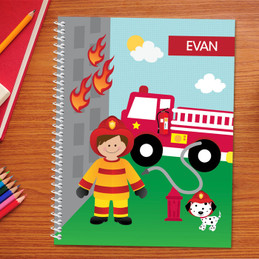 Call a Firefighter Kids Notebook